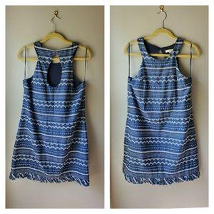 Trina Turk Blue A Line Dress Large XL Size 14
